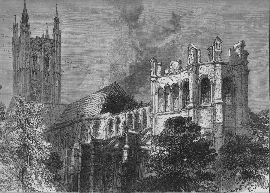 The Fire In The Canterbury Cathedral 1872