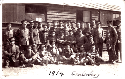 A group of soldiers from Canterbury, 1914